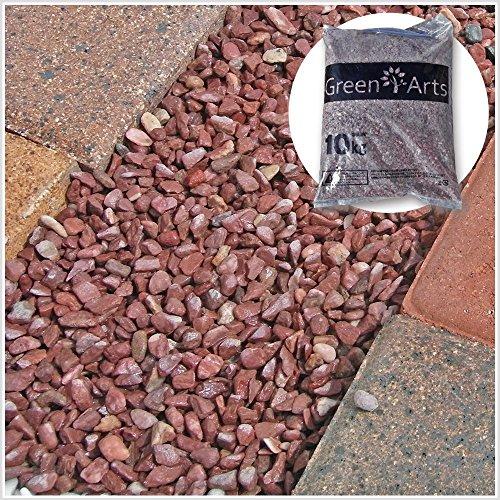 大理石の赤玉砂利 カエデ 約6~10mm 20kg