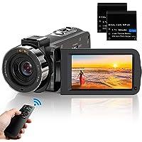 ビデオカメラ ACTITOP デジタルビデオカメラ HDビデオカメラ 3600万画素 HD1080P 16倍デジタルズー…