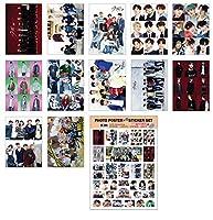 KPOP STAR A3ポスター12枚 + ステッカー1枚セット (A3 Poster + Sticker Set) / BTS TWICE IZONE EXO BLACKPINK TVXQ REDVELVET SHINEE WANNAONE GOT7 DAY6 MONSTAX SEVENTEEN SUPERJUNIOR STRAYKIDS TVXQ (STARYKIDS)