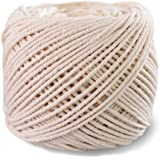 (1mm x 400m(About 437 yd)) Handmade Decorations Natural Cotton DIY Wall Hanging Plant Hanger Craft Making Knitting Cord Rope