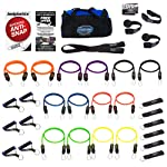 Bodylastics Patented Anti-SNAP 12pcs, 14pcs, 19pcs and 31pcs MAX Tension Resistance Bands Sets with 5, 6, 7 or 14 of Our...