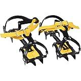 10本爪 アイゼン 雪山アイゼン 氷氷グリッパー 雪道 登山 滑り止め 転倒防止 ストラップタイプ 調整可能 軽量 安全 簡単装着 男女兼用 収納ケース付き 20.5-31cm