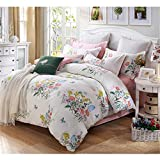 FeiLimei Bedding&Clothes 布団カバー 綿100 4点セット 花柄 BC1801