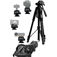 Gyue 三脚 170cm 軽量 コンパクト 一眼レフ ビデオカメラ 小型 3WAY雲台 3段 どの機種どのシーンでも大…