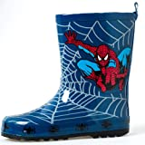 [Evan-happy] 長靴 キッズ ブルースパイダーマン ゴム レインブーツ 雨靴 女の子 男の子 男女兼用 梅雨対策 アウトドア 通園・通学用 子供用レインブーツ16.5cm~23cm