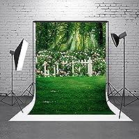 HMT 5x 7ft150cmx220cm ) Dreaming Floral Garden背景花背景幕for Kids誕生日写真の背景幕( no Wrinkle )