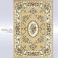 カーペットカーペットマット - 高密度ポリプロピレン長方形カーペット - リビングルームコーヒーテーブルソファベッドルームスタディホーム家具カーペット じゅうたん (Color : Camel B, Size : 130x190cm)