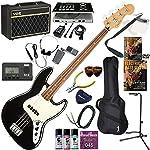 FENDER エレキベース 初心者 入門 メキシコ製 クラシックでエレガントなスタイルのジャズベース ベースの練習が楽しくなるCDトレーナー(エフェクターも内蔵)と人気のVOX Pathfinder BASS10が入った強力21点セット Player Jazz Bass/BLK/PF(ブラック/パーフェロー指板)