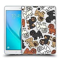 Head Case Designs ラサ・アプソ ドッグブリード・パターンズ7 Samsung Galaxy Tab A 9.7 専用ソフトジェルケース