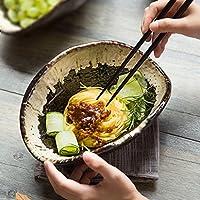 ボウル麺ボウル創造的な粗陶器の食器類異性のシェルボウル家庭用ラーメンボウルスープボウルフルーツボウル丼24 * 17 * 9CM