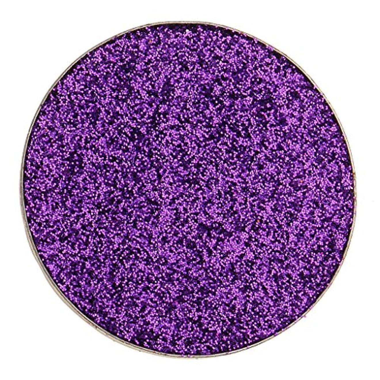 昼食ジェム防水Toygogo スパークリングダイヤモンドキラキラシマーコスメティックメイクアッププレスドパウダーアイシャドウピグメントスモーキーパーティーアイシャドウパレット5色緑赤紫シルバーマルチ - 紫