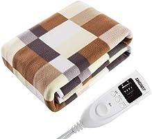 電気毛布 敷毛布 5段温度調節 タイマー付き 110V 漏電保護 火事防止 コントローラ ふわふわ 肌触り良い 暖かい ギフト 丸洗い可能 冬用寝具 160X80cm
