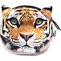 【560kick】 虎 豹 ライオン 猛獣 リアル 小銭入れ (虎)