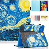 Galaxy Tab 4 10.1 Case,T530 Case,Dteck(TM) PU Leather Flip Stand Protective Case with Auto Wake/Sleep Feature Magnetic Smart Shell Cover for Samsung Galaxy Tab 4 10.1 SM-T530NU T531 T535, Starry Night