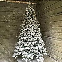 植毛クリスマス ツリー, ホワイト 人工的なクリスマス ツリー 消灯 と の鉄製土台 Pvc 素材 容易な組み立て クリスマスツリー-B 1.5m/4.9 ft