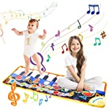 Musical Piano Mat, 19 Keys Piano Keyboard Play Mat Children Foot Touch Play Portable Musical Blanket Build-in Speaker & Recor