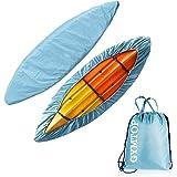 GYMTOP 7.8-18ft Waterproof Kayak Canoe Cover-Storage Dust Cover UV Protection Sunblock Shield for Fishing Boat/Kayak/Canoe 7