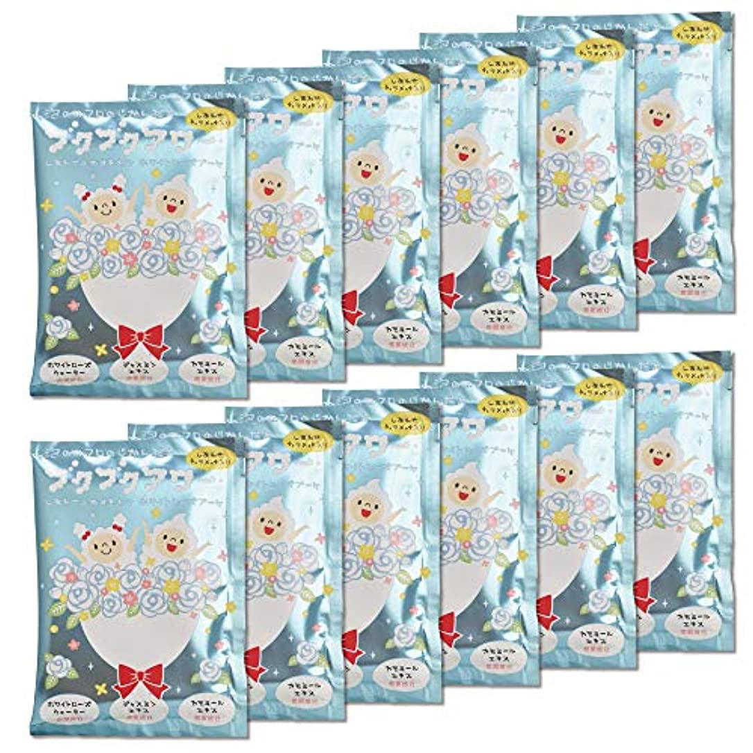 フィッティングアリーナ群がるブクブクアワー ホワイト ローズ ブーケ 入浴剤 40g 1回分×12包入 大容量 まとめ買い
