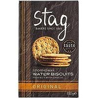 クワガタストーノウェー水ビスケット150グラム (x 4) - Stag Stornoway Water Biscuits 150g (Pack of 4) [並行輸入品]