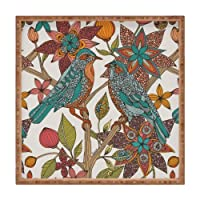 Deny Designs Valentina Ramos Lovebirds Indoor/Outdoor Square Tray 12 x 12 [並行輸入品]