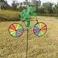 (Turtle) - Ladaidra Wind Spinner, Animal on Bike 3D Colourful Wheel Stand Decor Windmill for Farm Yard Lawn (Turtle)