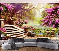 Bzbhart 3D壁紙壁画ガーデンガーデン風景画像壁画の装飾絵画 壁壁画壁紙用壁-450cmx300cm