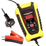 Katbo 6 Amp Smart Battery Charger Auto-Voltage Detection 6V 12V Automatic and Manual (Yellow)