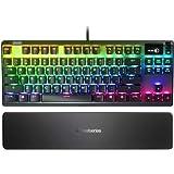 SteelSeries Apex Pro TKL メカニカルスイッチ ゲーミングキーボード OLEDスマートディスプレイ付き (リニュー)