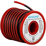 BNTECHGO 16 Gauge Silicone Wire 50 feet [25 ft Black And 25 ft Red] High Temperature Resistant Soft and Flexible 16 AWG Silic