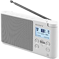 ソニー SONY ラジオ XDR-56TV : ワイドFM対応 FM/AM/ワンセグTV音声対応 おやすみタイマー搭載 乾電池対応 ホワイト XDR-56TV W