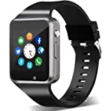 Smart Watch,Unlocked Smartwatch Compatible with Bluetooth/Android/iOS (Partial Functions) Touchscreen Call Text Camera Music