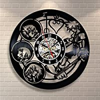 Kingdom Hearts Anime Vinyl Record Design Wall Clock - Decorate your home with Modern Kingdom Hearts Story Characters Art - Best gift for him and her, girlfriend or boyfriend - Win a prize for feedback by Vinyl Evolution