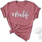 Umsuhu Mom Shirts with Sayings MomLifeShirts for Women Funny Cute Mom Mama Shirts Gifts