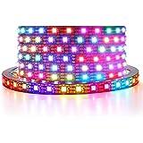 ALITOVE WS2812B LED Strip 6.6ft 2M 120 LEDs Addressable RGB LED Pixels Programmable Dream Color Digital LED Lights Strip 5V D