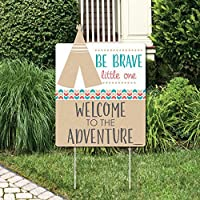 Big Dot of Happiness Be Brave Little One - Party Decorations - Boho Tribal Birthday Party or Baby Shower Welcome Yard Sign [並行輸入品]