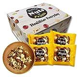 小分け4種 ミックスナッツ 1.05kg (35gx30袋) 箱入り 無塩 無添加 食物油不使用 (生くるみ30% アーモンド35% カシューナッツ15% 生マカダミア20%)