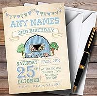 Boysファーム動物Childrens誕生日パーティー招待状 20 Invitations