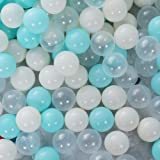 PlayMaty Play Ball Pit Balls - 2.36inches Phthalate&BPA Free Plastic Ocean Colour Balls for Kids Toddlers and Babys for Playh
