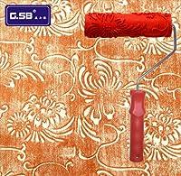 FidgetGear 新しい花柄塗装ローラー壁の装飾エンボス泥建設ツール