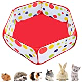 Portable Small Animals Playpen, Outdoor/Indoor Pop Open Pet Exercise Fence, Guinea Pig Accessories Metal Wire Yard Fence C&C
