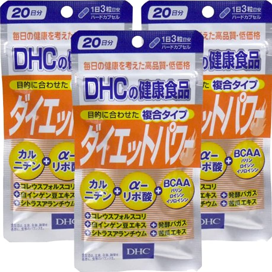 虐殺ブラシコミットDHC ダイエットパワー 20日分 60粒 ×3個セット
