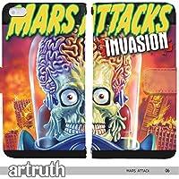 80's Space Universe & STAR WARS 手帳型 arrows NX F-01J(G006702_01) 専用 映画 Mars attack マーズ・アタックpop art センス 個性的 スマホケース
