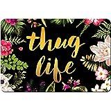 """ZBLX Thug Life Flowers Doormat Entrance Mat Floor Mat Rug Indoor/Outdoor/Front Door/Bathroom Mats Rubber Non Slip (30""""x18"""",45"""