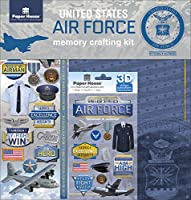 Paper House Productions KTSP-1016E United States Air Force Paper Crafting Kits (3 Pack) by Paper House Productions