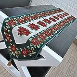 yazi-クリスマス テーブルランナー テーブルセンタークロス タペストリー 花柄 パーティ/おもてなし
