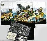 七五三 5歳男児羽織・袴セット 七五三参り男の子フルセット 白地X黒 鷹柄 縫い上げ無料