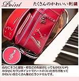 女の子 メロディキャットモデル ラヴニールランドセル フィットちゃんランドセル 猫 ネコ 音符 キャット ピアノ A4フラットファイル収納サイズ e-QBU型 日本製 入学祝い 新入学 人気 ランキング おしゃれ かわいい (パールヴィヴィット) 画像