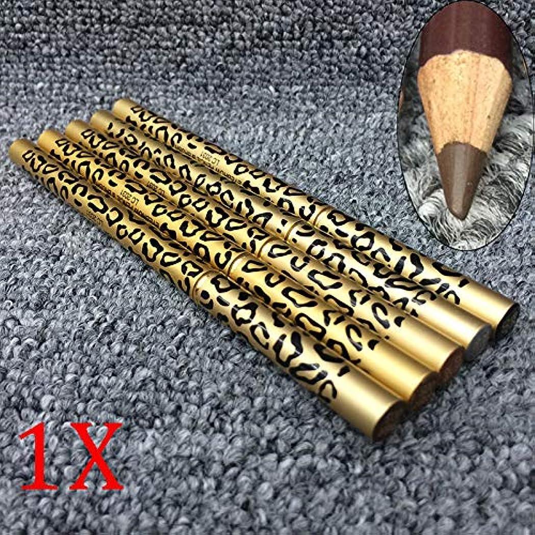 流出去る電圧Symboat ダブルアイブロウペンシル ヒョウデザイン メタルシェル 眉ペンシル 着色力 ナチュラルブラウン 長持ち メイクアップペン