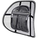 XINING Chair Back Support Seat Lumbar Support Cushion with Strap and Mesh for Car Seat Chair Back