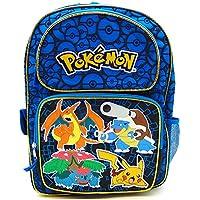 "Backpack - Pokemon - Pikachu Blue 16"" Large School Bag New 847125"